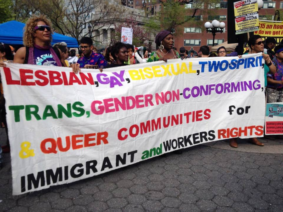 may day lgbtq banner