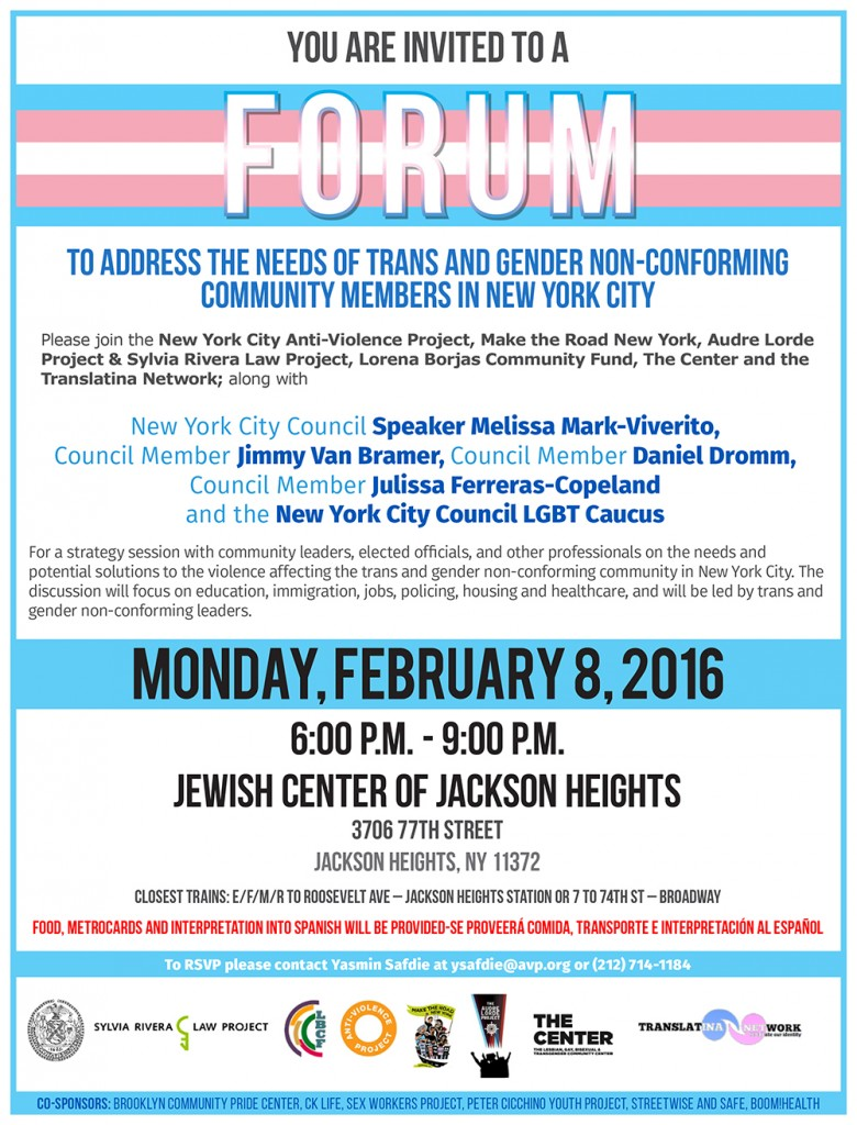 Flyer for City-wide forum
