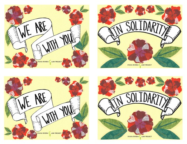SRLP Love postcards for people who are incarcerated.
