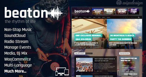 Beaton – Music Radio & Events WordPress Theme 1 4 1