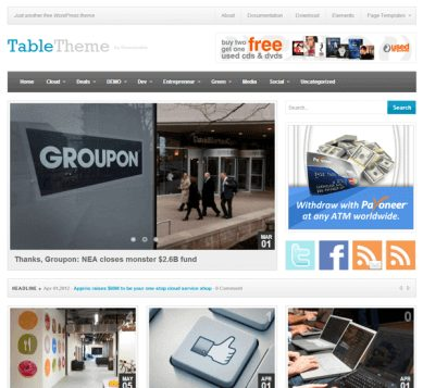 Theme Junkie Table WordPress Theme 1.0.2
