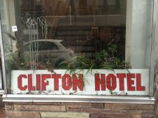 Clifton Hotel - sign out front