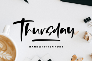 Thursday Vibes - Handwritten Font