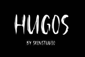 HUGOS- BRUSH FONT