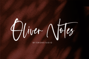 Oliver Notes - Handwritten Font