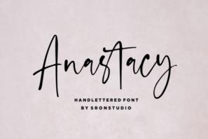 Anastacy - Handlettered Font