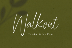 Walkout - Handwritten Font