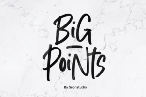 Big Points - Display Font