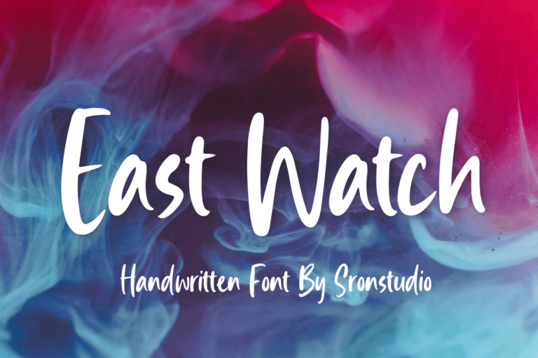 Preview image of East Watch – Handwritten Font