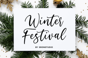 Winter Festival - Calligraphy Font