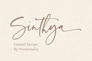 Sinthya - Casual Script Font