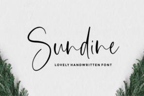 Sundine - Handwritten Font