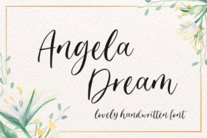 Angela Dream - Lovely Font