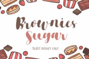 Brownies Sugar - Sweet Bouncy Font