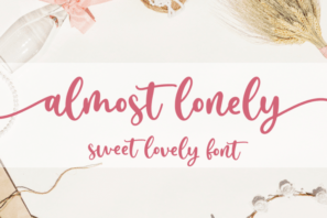 Almost Lonely - Sweet Lovely Font