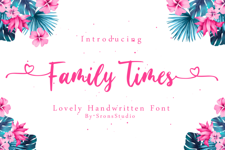 Preview image of Family Times – Lovely Handwritten Font