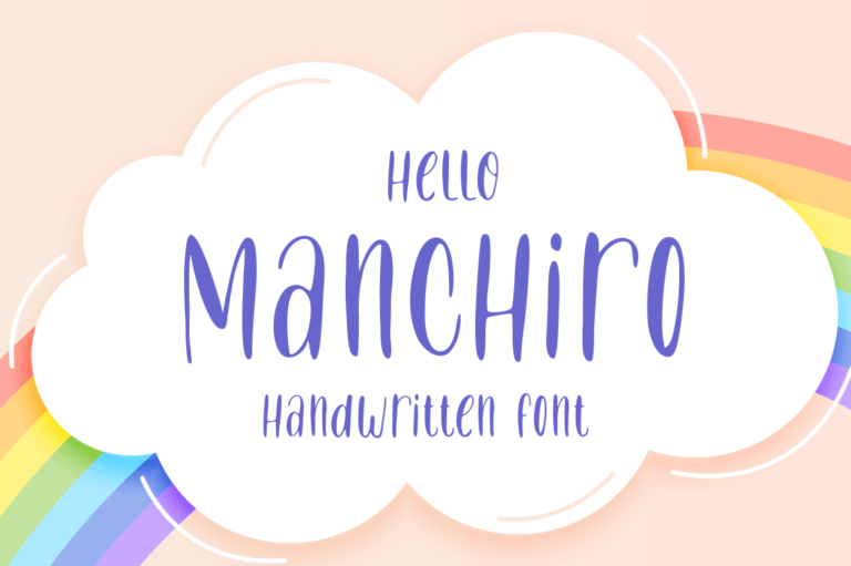 Preview image of Manchiro – Handwritten Font