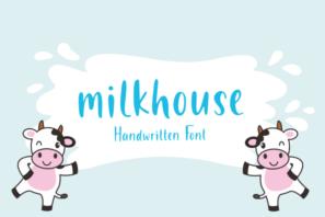 Milkhouse - Handwritten Font
