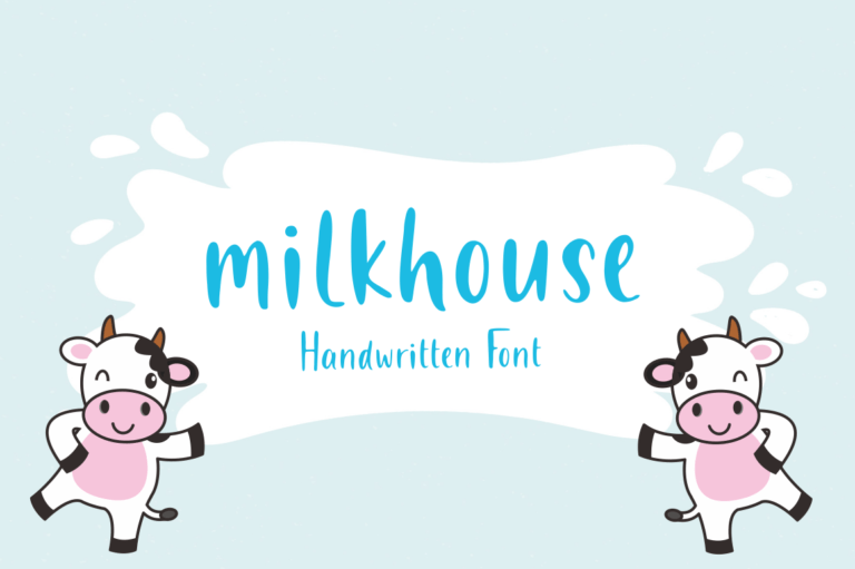 Preview image of Milkhouse – Handwritten Font
