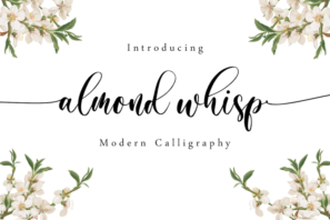 Almond Whisp - Modern Calligraphy
