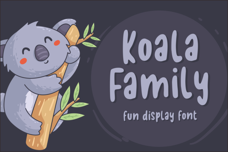 Koala Family - Fun Display Font