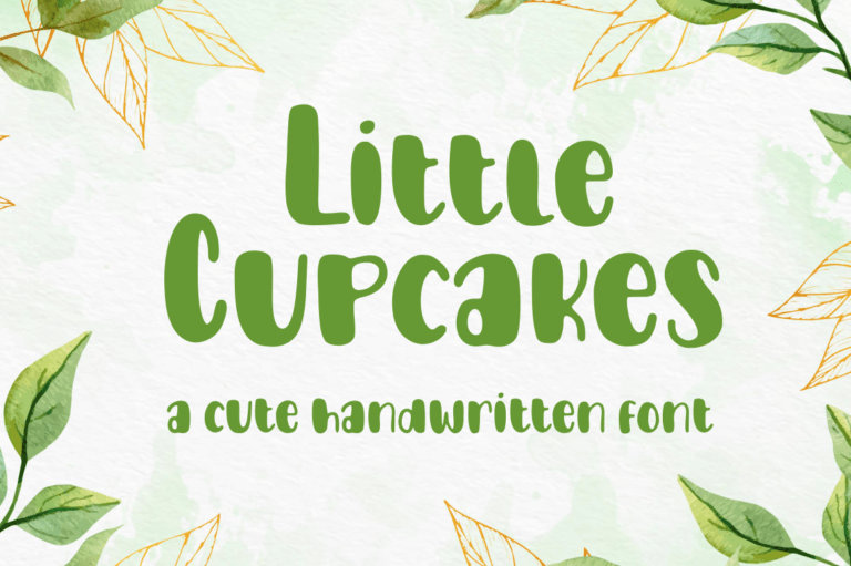 Preview image of Little Cupcakes Font