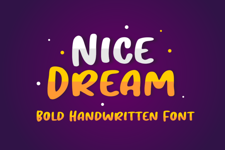 Preview image of Nice Dream – Display Font