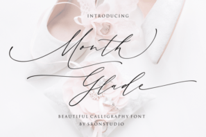 Month Glade - Calligraphy Font