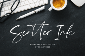 Scatter Ink | Handlettered Font