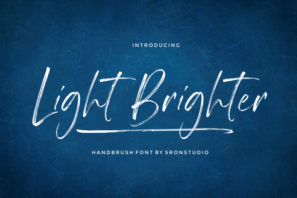Light Brighter - Handbrush Font