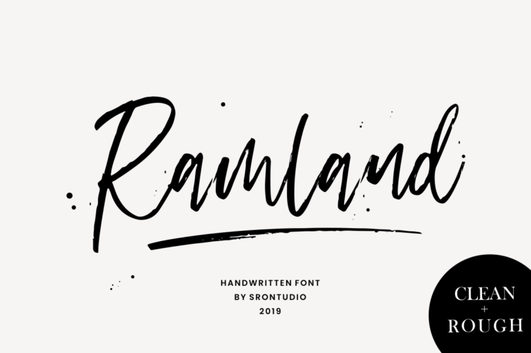 Preview image of Ramland – Clean & Rough Script