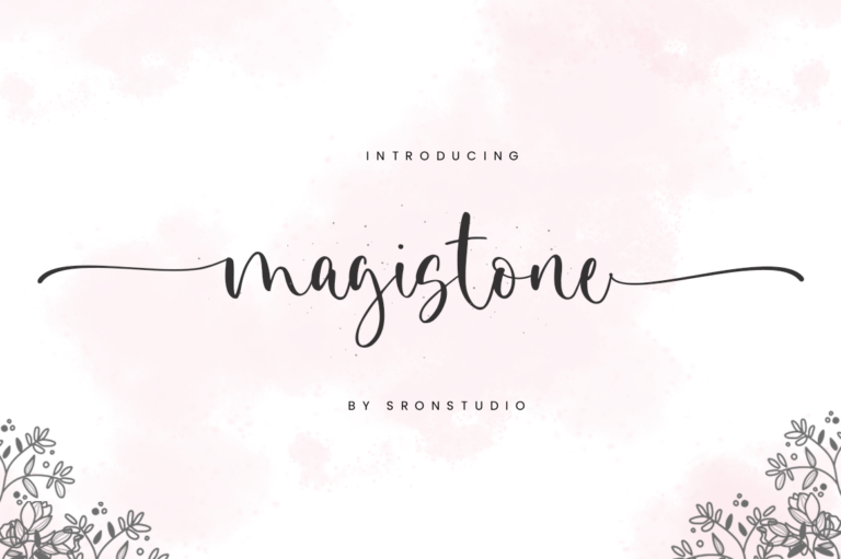 Preview image of Magistone – Calligraphy Font