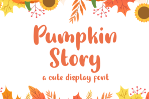 Pumpkin Story - Cute Display Font