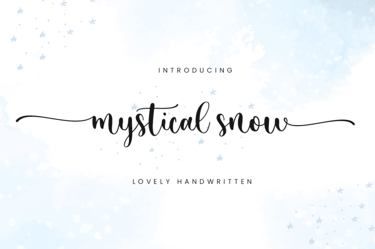Preview image of Mystical Snow – Beautiful Font
