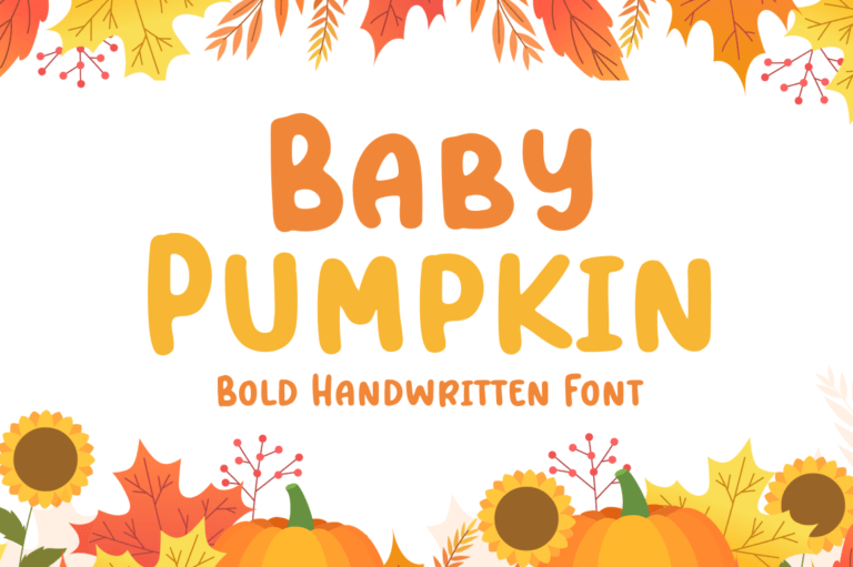 Baby Pumpkin - Fun Display Font