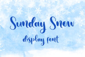 Sunday Snow - Display Font