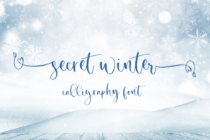 Secret Winter - Calligraphy Font