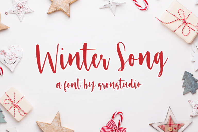 Preview image of Winter Song Font