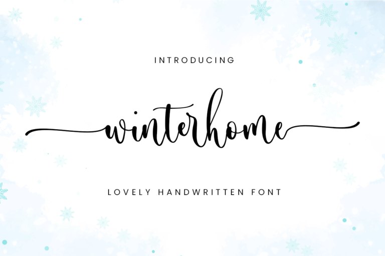 Preview image of Winterhome – Calligraphy Font