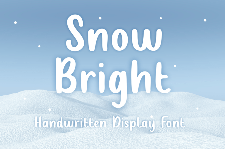 Snow Bright - Display Font