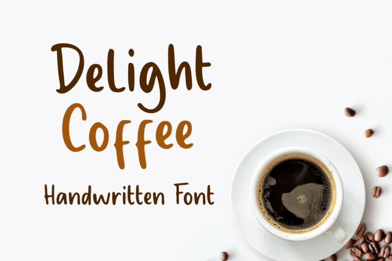 Preview image of Delight Coffee – Display Font
