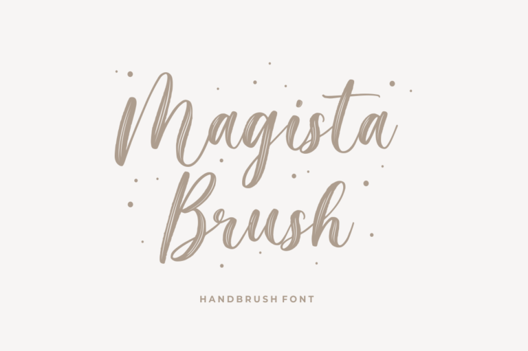 Magista Brush - Handbrush Font