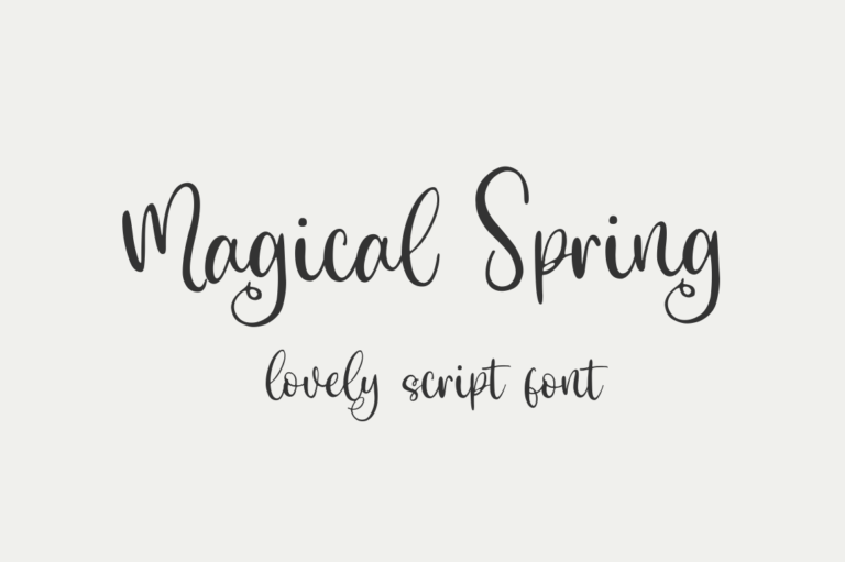 Magical Spring - Lovely Script