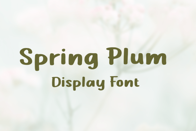Preview image of Spring Plum – Display Font