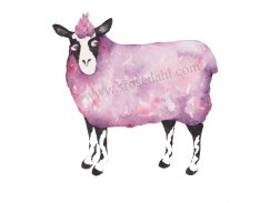 Funky Sheep Purple URL