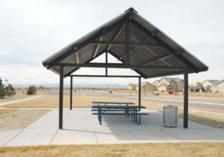 20 X64 Gable End Steel Outdoor Pavilion Shelter