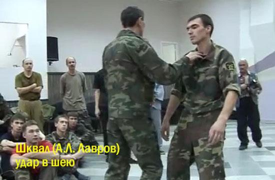 Лавров А.Л. удар в шею