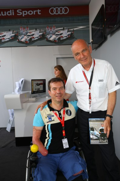 Frédéric SAUSSET et Wolfgang ULLRICH (AUDI SPORT)