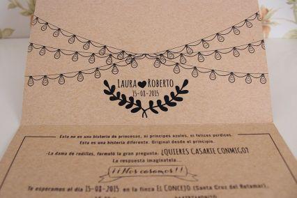 Invitación de boda craft5