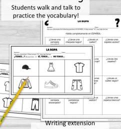 Clothing La Ropa Spanish Speaking Activity - Srta Spanish [ 1032 x 792 Pixel ]